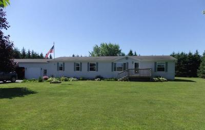 Marinette Single Family Home For Sale: W3243 Oak Dr