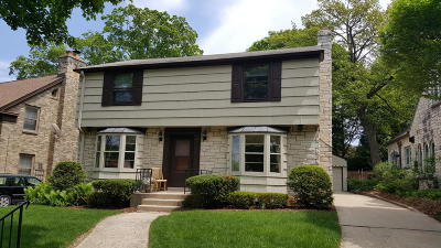 Whitefish Bay Single Family Home Active Contingent With Offer: 4718 N Bartlett Ave