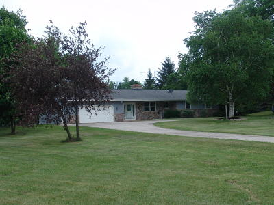 Kewaskum Single Family Home For Sale: N214 State Road 45