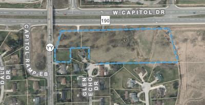 Brookfield Residential Lots & Land Active Contingent With Offer: Lt1 W Capitol Dr #Lt2, Lt3