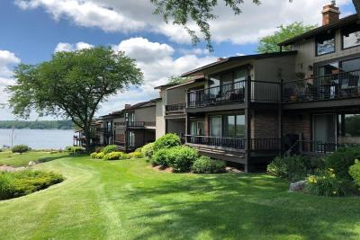 Lake Geneva Condo/Townhouse Active Contingent With Offer: 1070 S Lake Shore Dr #4 B-1