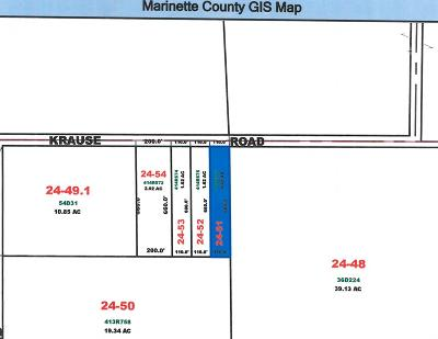 Menominee County, Marinette County Residential Lots & Land For Sale: Lt0 Krause Rd
