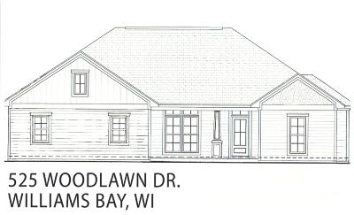 Williams Bay Single Family Home For Sale: 525 Woodlawn Dr