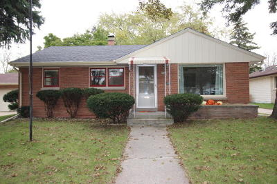 West Allis Single Family Home Active Contingent With Offer: 2544 S 90th St