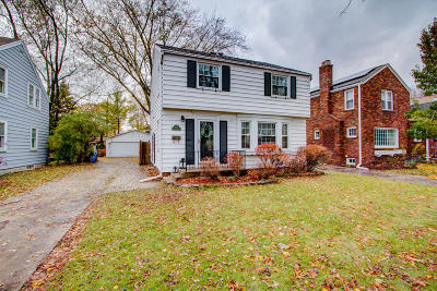 Whitefish Bay Single Family Home Active Contingent With Offer: 4949 N Hollywood Ave