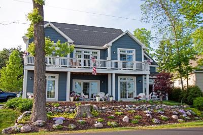 Lake Geneva Single Family Home For Sale: W3920 Lake Shore Dr