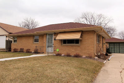 West Allis Single Family Home Active Contingent With Offer: 2818 S 72nd St