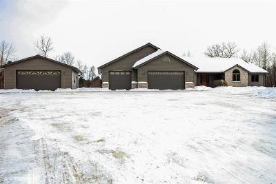 West Bend Single Family Home For Sale: 7638 Indian Lore Rd