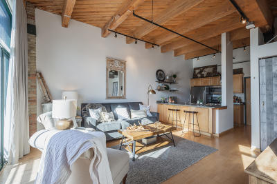 Milwaukee Condo/Townhouse Active Contingent With Offer: 200 S Water St #214