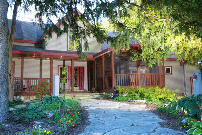 Plymouth Single Family Home Active Contingent With Offer: W5228 Gerber Lake Rd