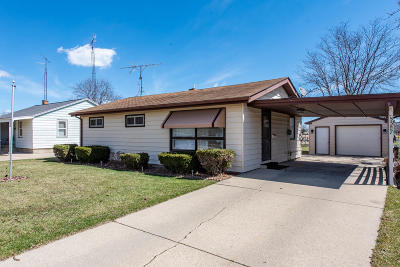 Kenosha Single Family Home Active Contingent With Offer: 5327 52nd