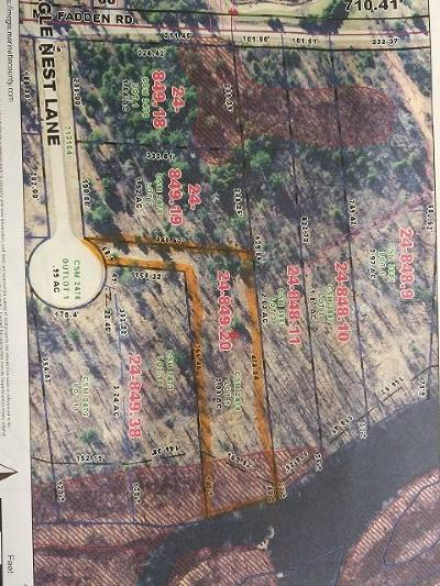 Menominee County, Marinette County Residential Lots & Land For Sale: W3252 Eagle Nest Ln