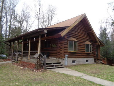 Pembine Single Family Home For Sale: W7412 Jossart Rd