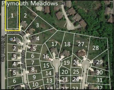 Plymouth Residential Lots & Land For Sale: Lt 1 Larkspur Rd