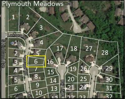 Plymouth Residential Lots & Land For Sale: Lt 6 Larkspur Rd