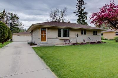 Menomonee Falls Single Family Home Active Contingent With Offer: N88w18057 Christman Rd