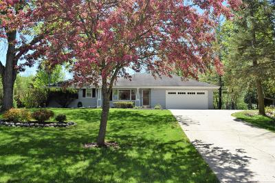 Pewaukee Single Family Home Active Contingent With Offer: N21w28337 Beach Rd