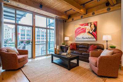 Milwaukee Condo/Townhouse Active Contingent With Offer: 130 S Water St #106