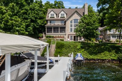 Lake Geneva Single Family Home Active Contingent With Offer: W4351 N Lake Shore Dr