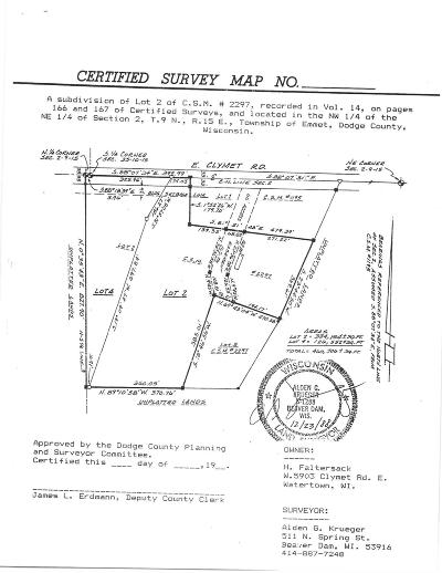 Watertown Residential Lots & Land For Sale: 00 Clymet Rd