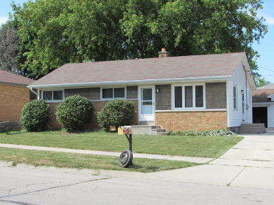 South Milwaukee Single Family Home Active Contingent With Offer: 706 Lakeview Ave