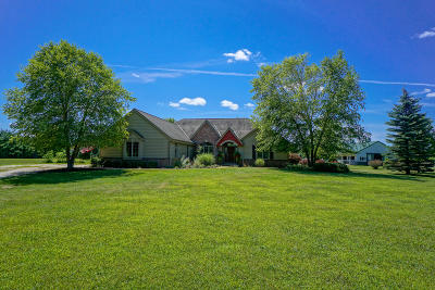 Mukwonago Single Family Home For Sale: W319s6651 Schnitzler Rd