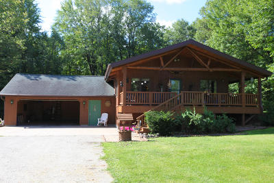 Marinette Single Family Home For Sale: W3355 Hwy 64