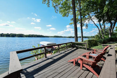Mukwonago Single Family Home For Sale: W1757 Lake Rd