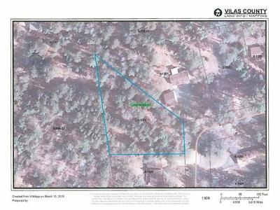 Eagle River WI Residential Lots & Land For Sale: $8,900