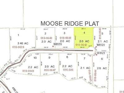 Residential Lots & Land For Sale: Lot 4 Moose Ridge Dr