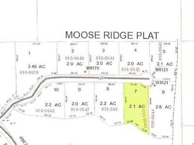 Residential Lots & Land For Sale: Lot 7 Moose Ridge Dr