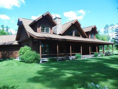 Tomahawk, Tripoli, Gleason, Rib Lake, Ogema, Brantwood Single Family Home For Sale: W5012 Beaver Lake Rd