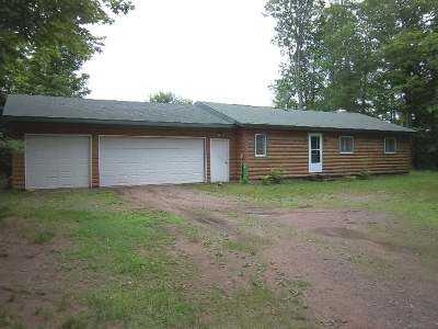 Mercer WI Single Family Home For Sale: $169,500