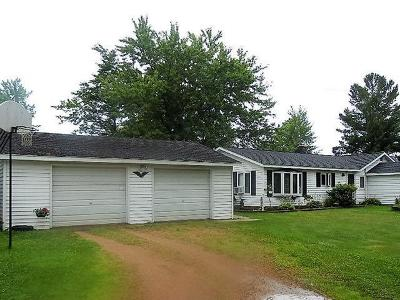 Forest County, Iron Wi County, Langlade County, Lincoln County, Oneida County, Vilas County Single Family Home For Sale: N5607 State Rd 107