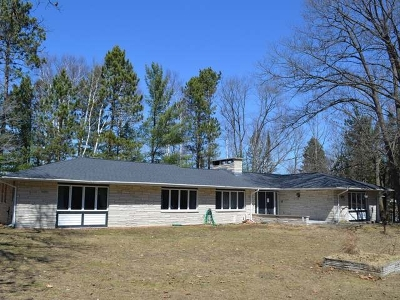 Tomahawk, Tripoli, Gleason, Rib Lake, Ogema, Brantwood Single Family Home For Sale: 5269 Pier Lake Rd