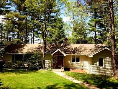 Minocqua Single Family Home For Sale: 8723 On Bakely Cr W