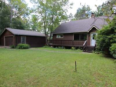 Forest County, Iron Wi County, Langlade County, Lincoln County, Oneida County, Vilas County Single Family Home For Sale: 1865 Hall Rd #w .50