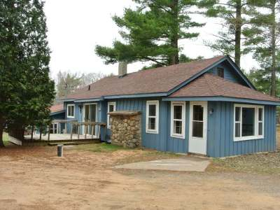 Three Lakes WI Single Family Home Active O/C: $149,900