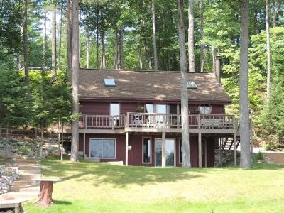 Minocqua Single Family Home For Sale: 8258 Mercer Lake Tr