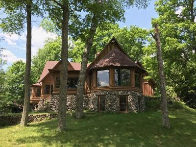 Minocqua WI Single Family Home For Sale: $1,350,000