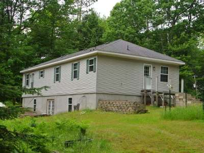 Three Lakes WI Single Family Home Active O/C: $124,500
