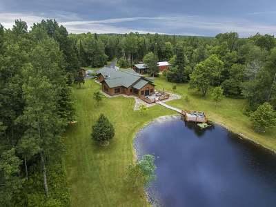Tomahawk, Tripoli, Gleason, Rib Lake, Ogema, Brantwood Single Family Home For Sale: N11392 Pine Tree Ln