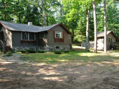 Three Lakes WI Single Family Home For Sale: $299,500