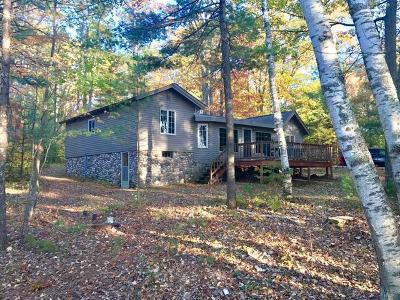 Lac Du Flambeau Single Family Home For Sale: 1085 Cth F