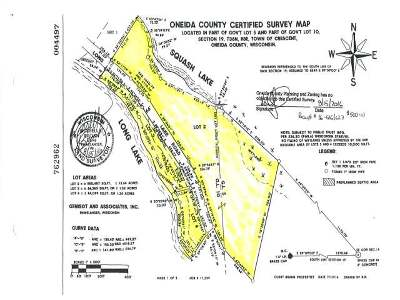 Rhinelander Residential Lots & Land For Sale: 2 & 3 Long Lake Rd