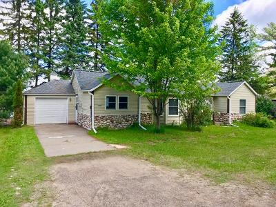 Forest County, Iron Wi County, Langlade County, Lincoln County, Oneida County, Vilas County Single Family Home For Sale: 4062 Cth P