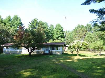 Three Lakes WI Single Family Home For Sale: $155,000