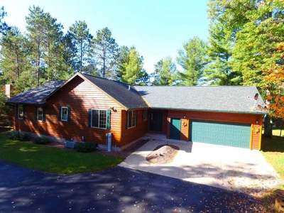 Lake Tomahawk Single Family Home For Sale: 7753 Crow Rd