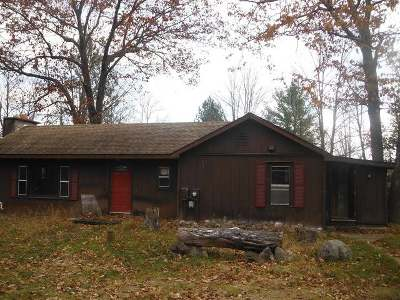 Forest County, Iron Wi County, Langlade County, Lincoln County, Oneida County, Vilas County Single Family Home For Sale: 3342 Whisper Dr
