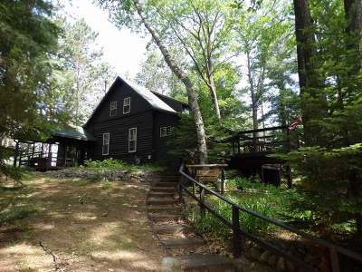 Forest County, Iron Wi County, Langlade County, Lincoln County, Oneida County, Vilas County Single Family Home For Sale: 3949 Moen Lake Rd